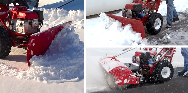 turfteq snow plough and broom