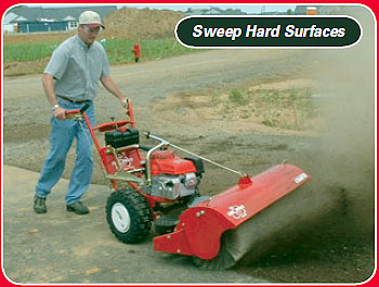 power sweeper for hard surfaces