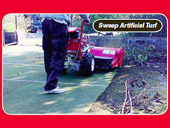 power sweeper for artifical turf