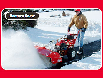 power sweeper to remove snow