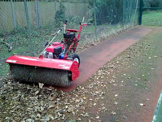 Walk Behind Sweeper Power Broom For Artificial Turf