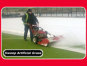 power sweeper for  tennis courts