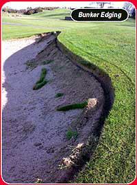 golf bunker edging