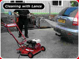 pressure cleaning using lance small pic