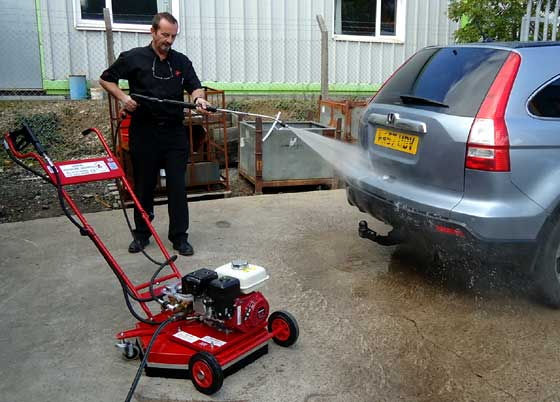 car cleaning with lance attachment