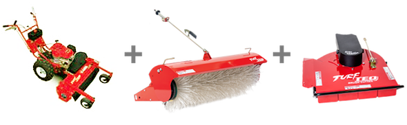power edger, broom and rough cutter